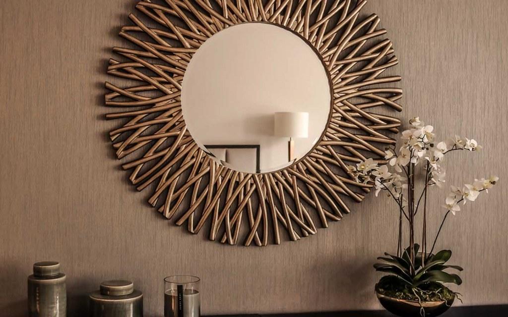 hang mirrors to make a small space look bigger