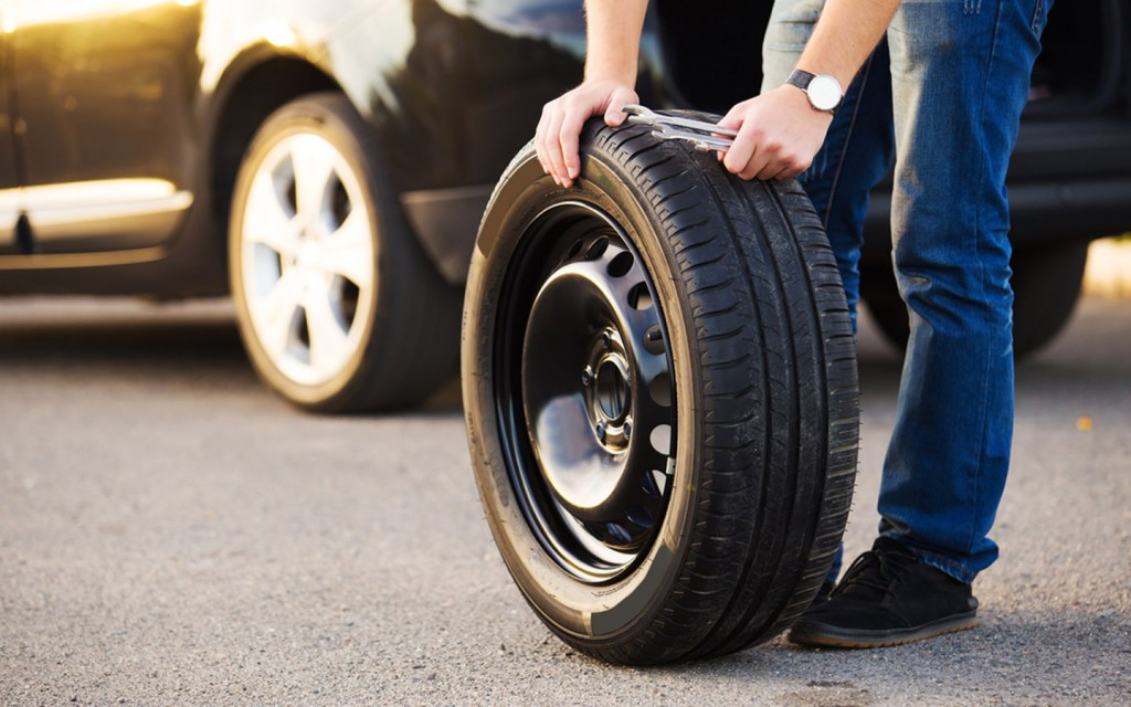 spare tire as an emergency kit supply