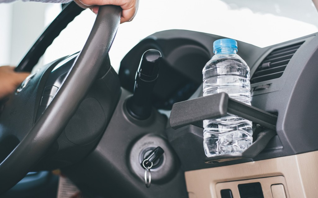 keep plenty of water supply in your car