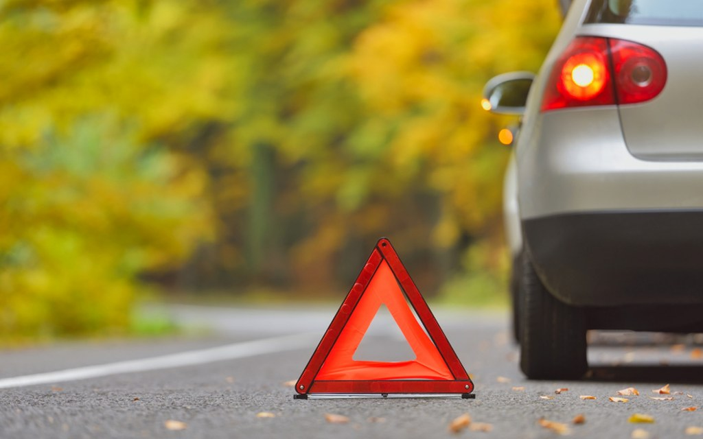 reflective triangle should be in your car emergency kit