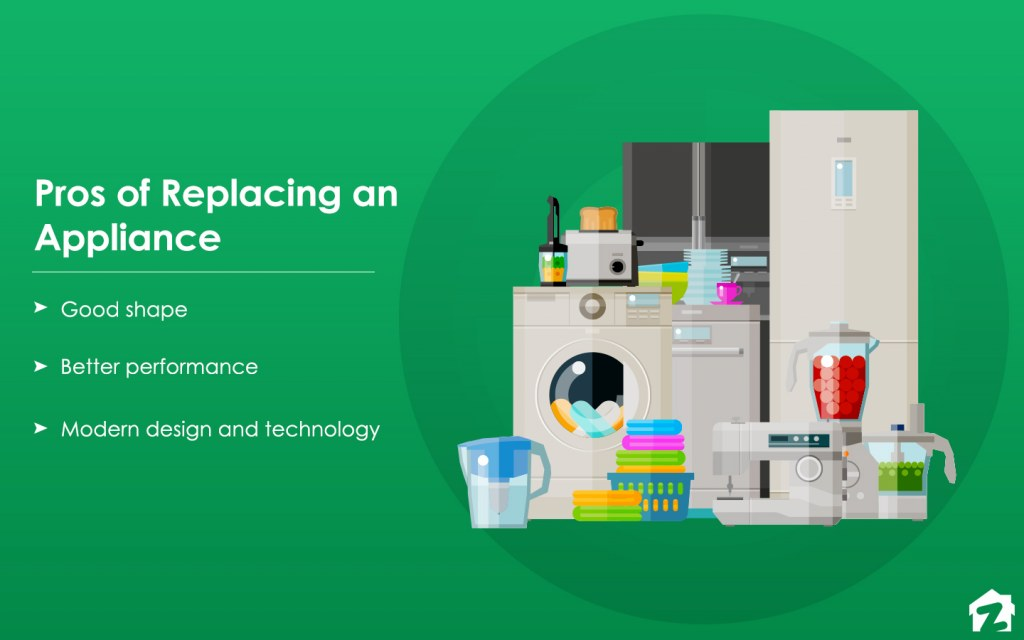 Some pros of replacing an appliance
