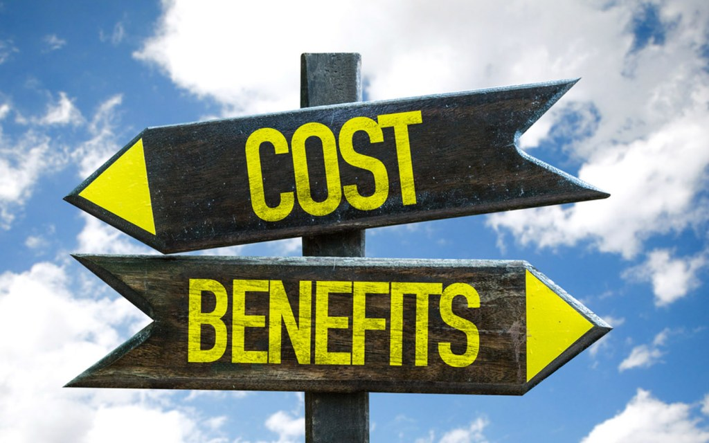 Signboards of cost and benefits