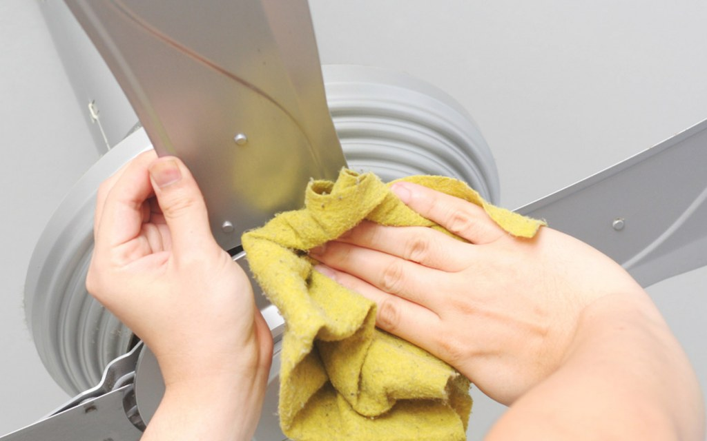 Try Cleaning the Blades of Your Ceiling Fan