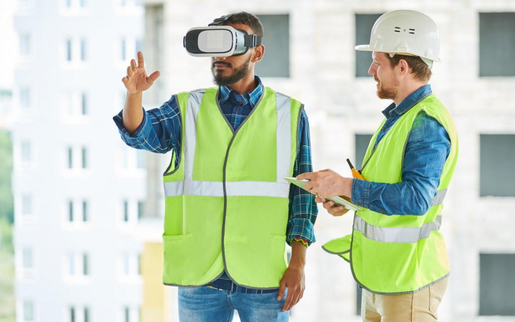 train construction workers by helping them operate heavy equipment using virtual reality