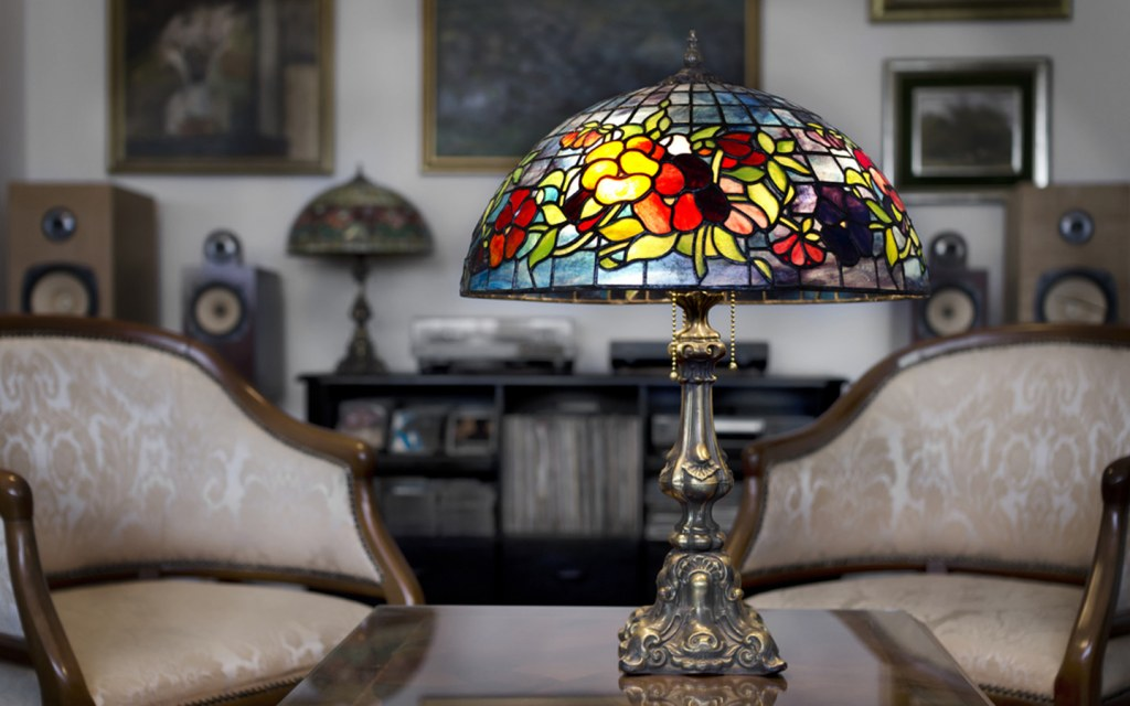 Stained Glass Lampshade at home