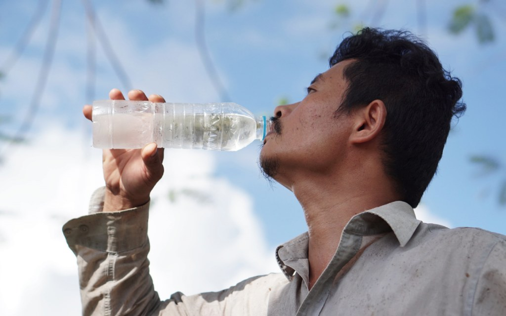 Hydrating to keep your body cool