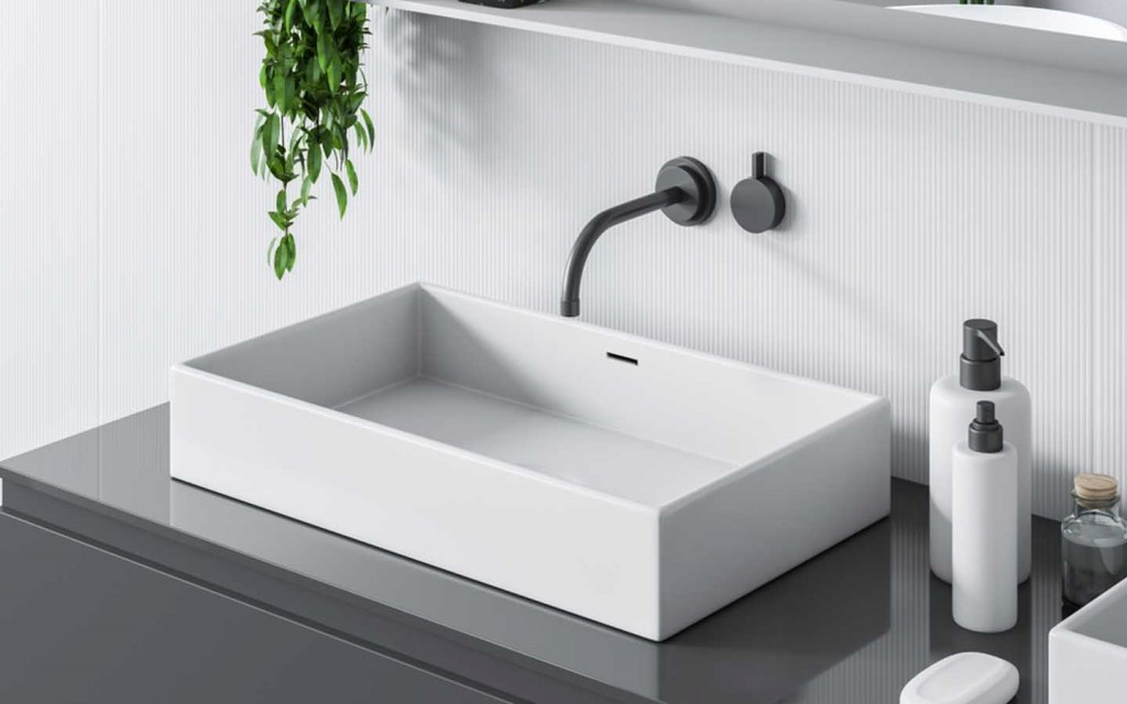 ceramic is one of the best materials for bathroom sinks