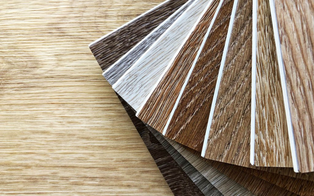 You can choose from a variety of designs in vinyl flooring