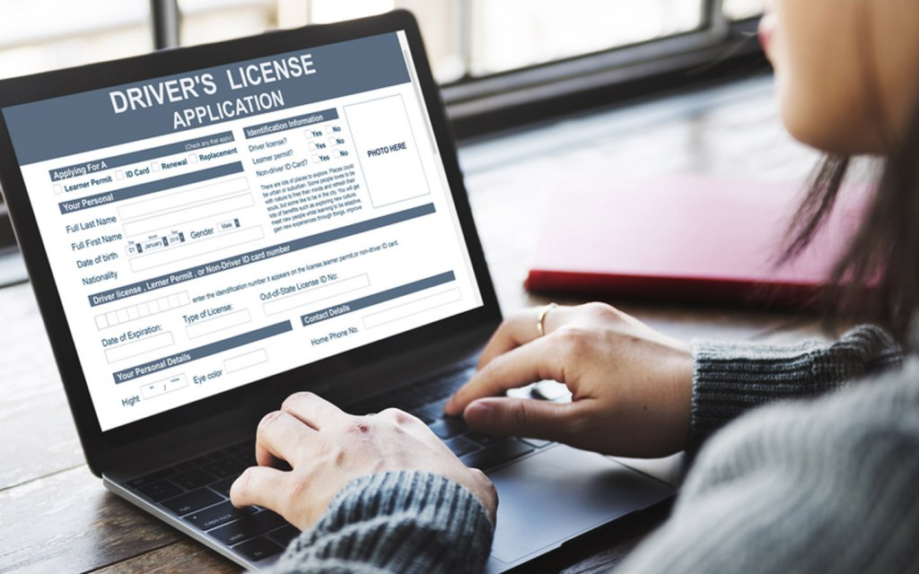 You can fill out the driver's license application form online