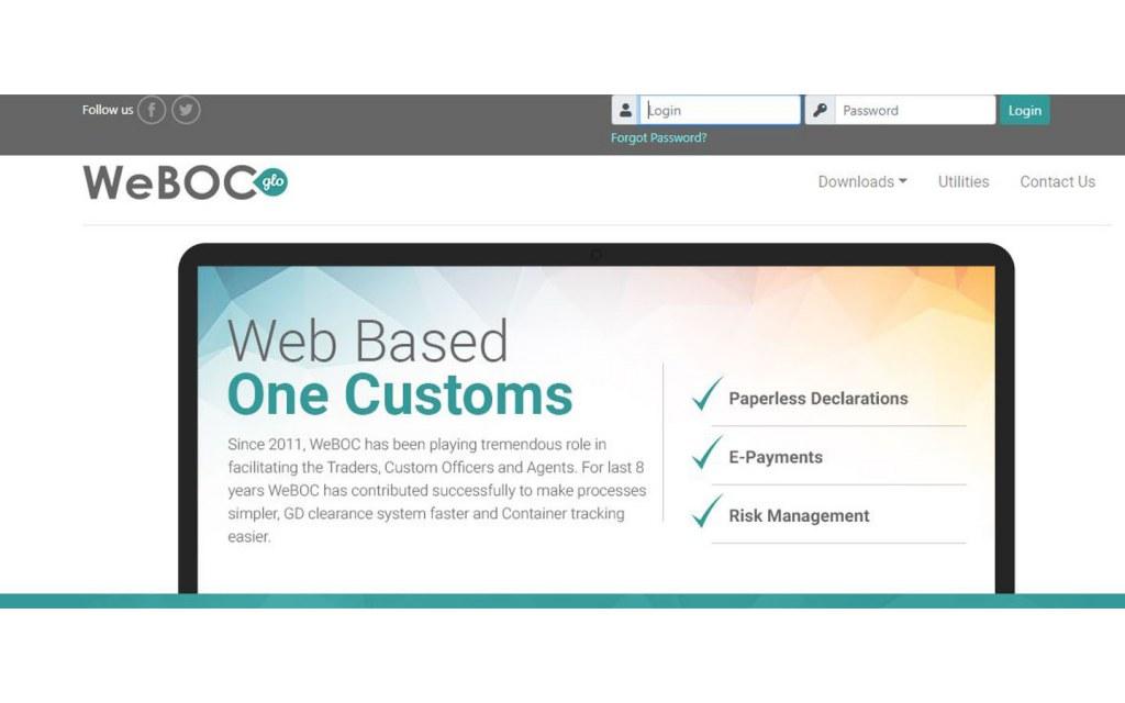 WeBOC Portal for Customs Clearance