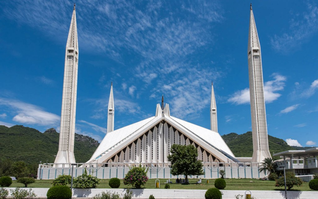 Architecture of Faisal Mosque in Islamabad