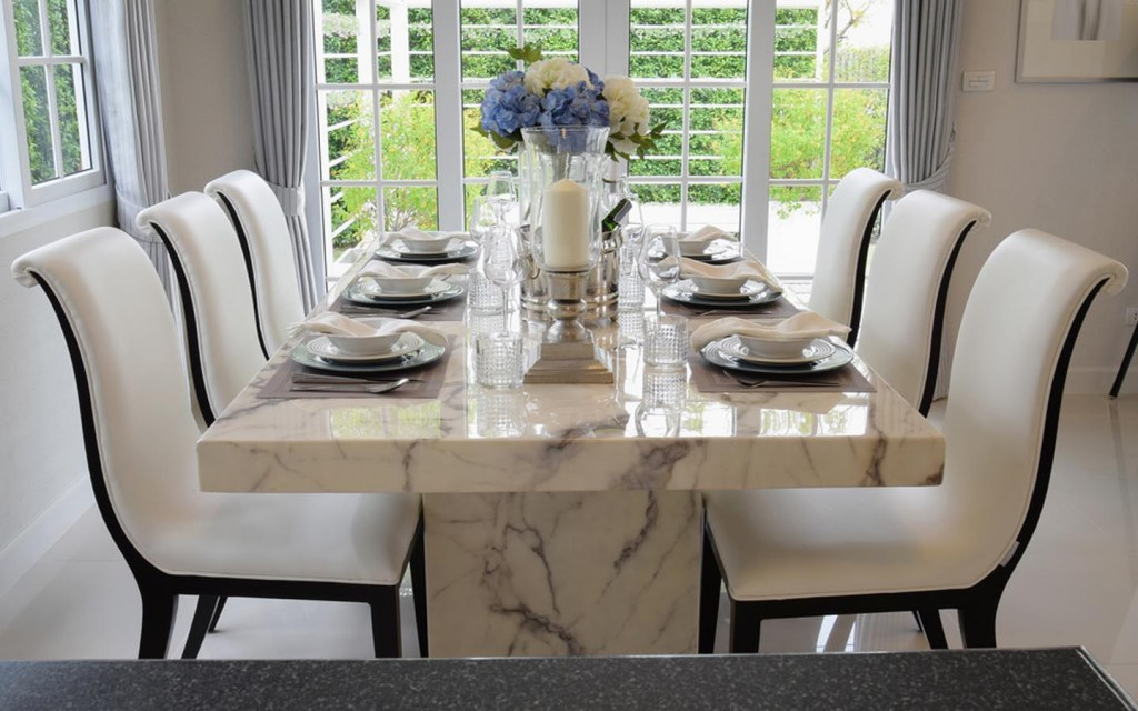 Sturdy Marble Dining Table
