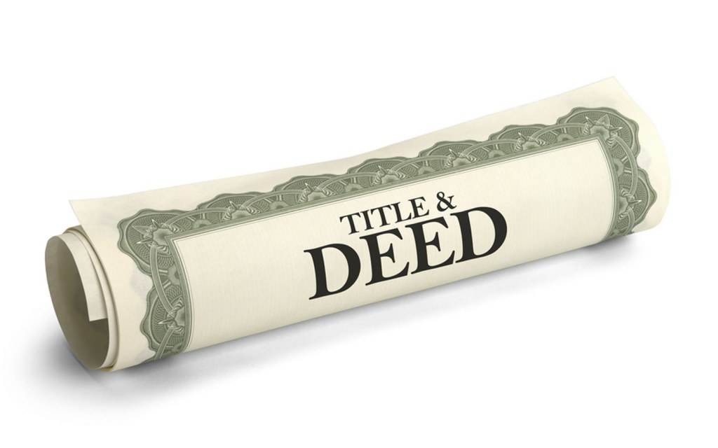 Changing the title deed to your name