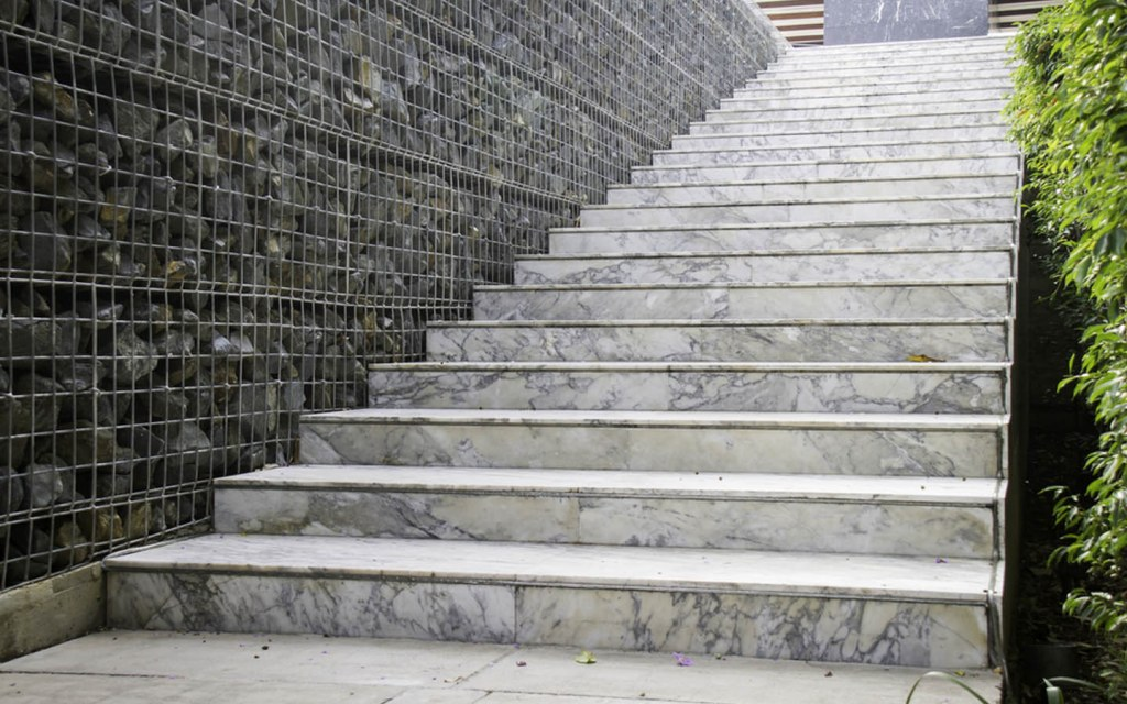 Marble stairs outdoors