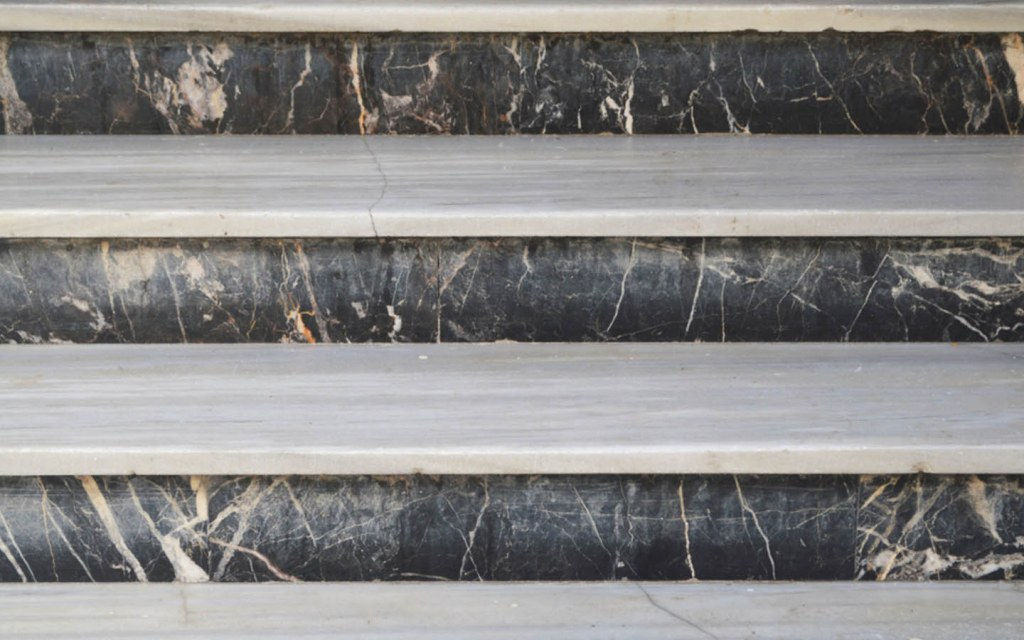 Beautiful Patterned Marble Stairs