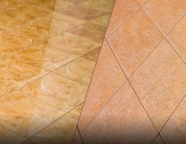 matte vs. gloss tile