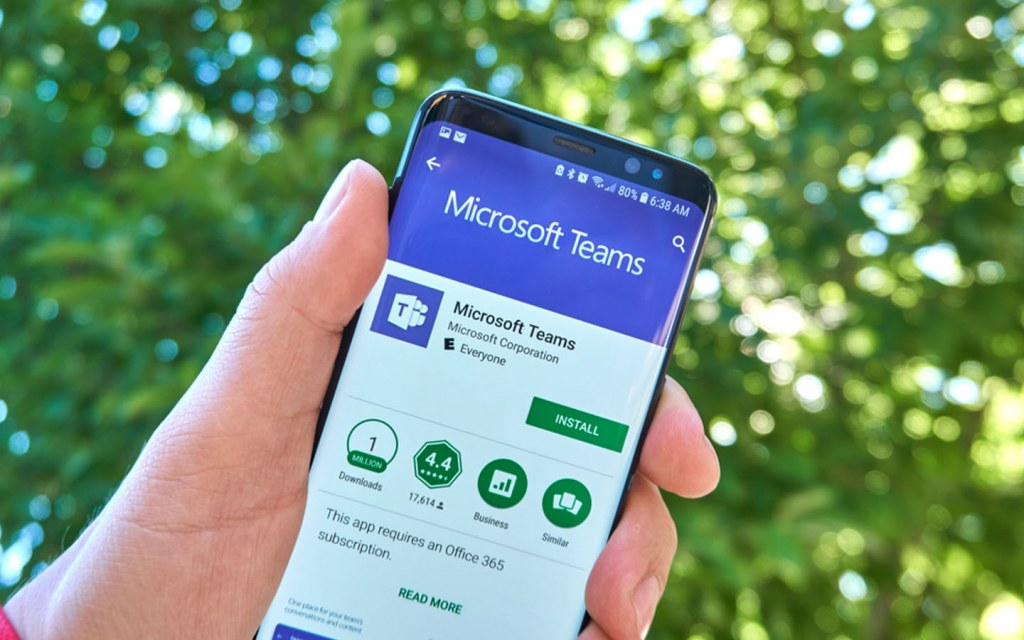 Microsoft Teams is available on Google Play