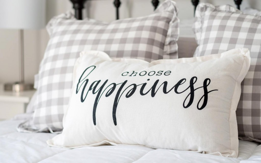 The right pillow brings happiness and peaceful sleep