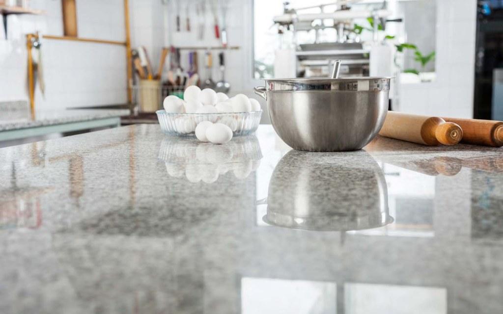 Marble kitchen countertop looks elegant and stylish