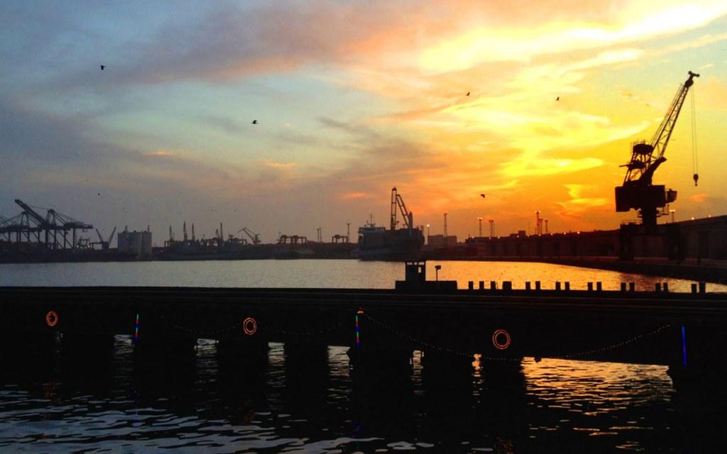 shipyard view at port grand