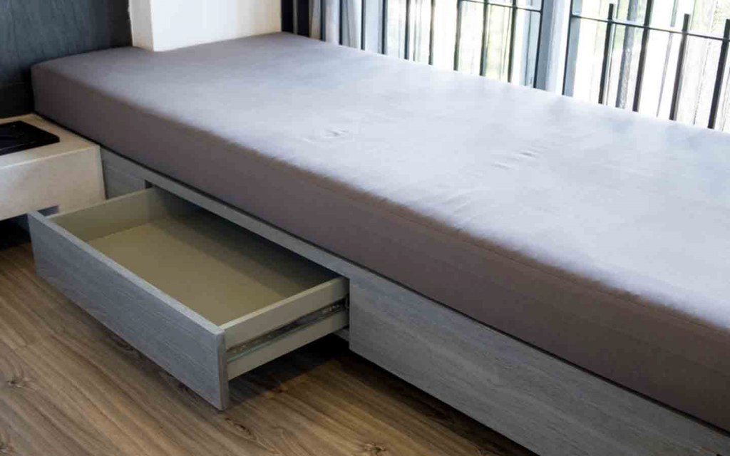 Make the most of the space under the bed