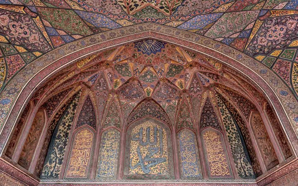 the intricate designs of Wazir Khan Mosque