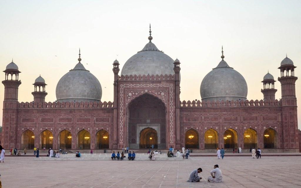 Location of Badshahi Mosque, Lahore