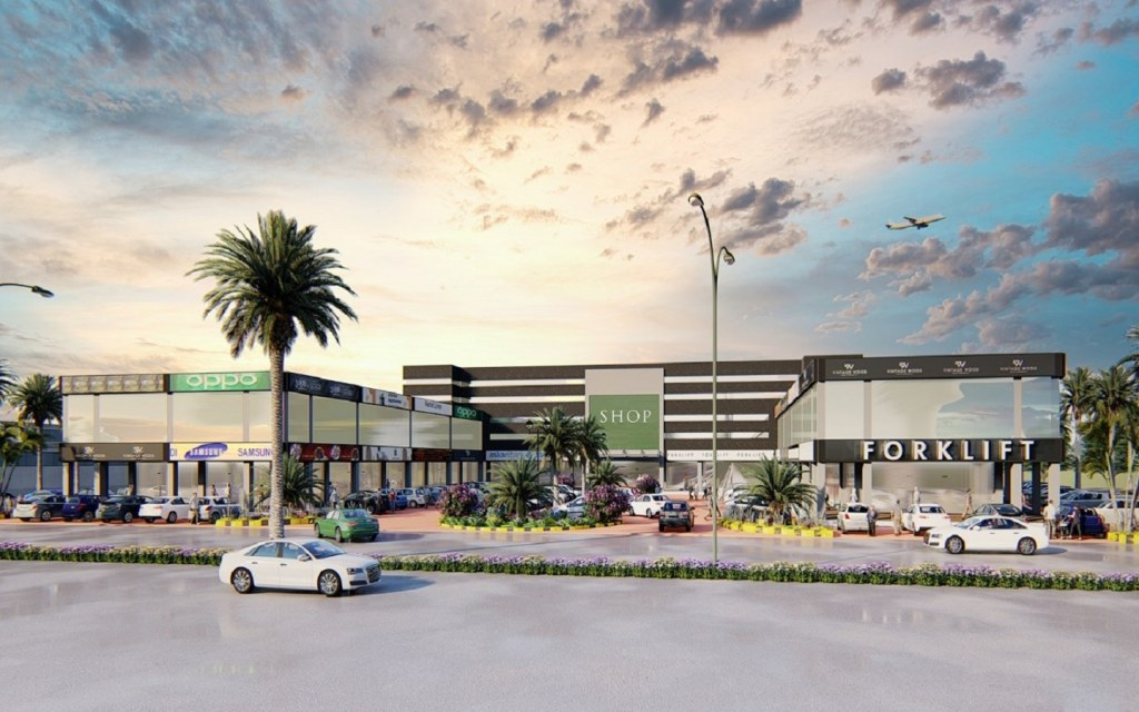 A render of the DHA Villas Shopping Arcade