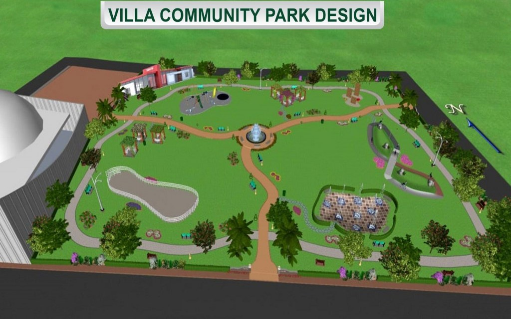 A map of the DHA Villas Community Park