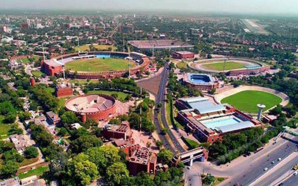 Location of Gaddafi Stadium, Lahore