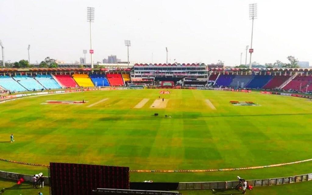 Interior of Gaddafi Stadium, Lahore