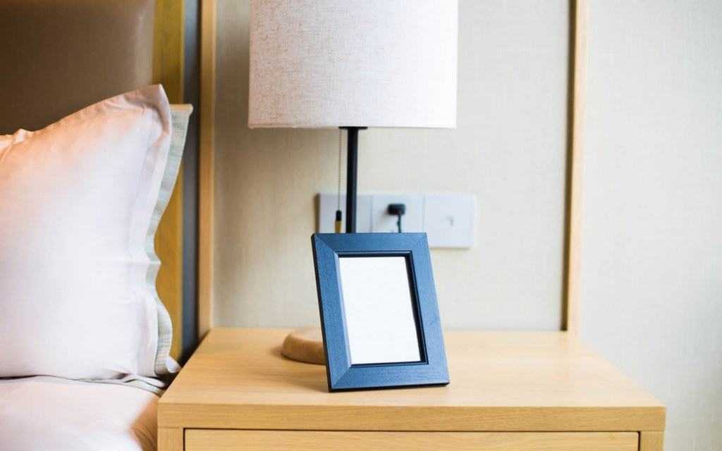 Photo Frame on Nightstand