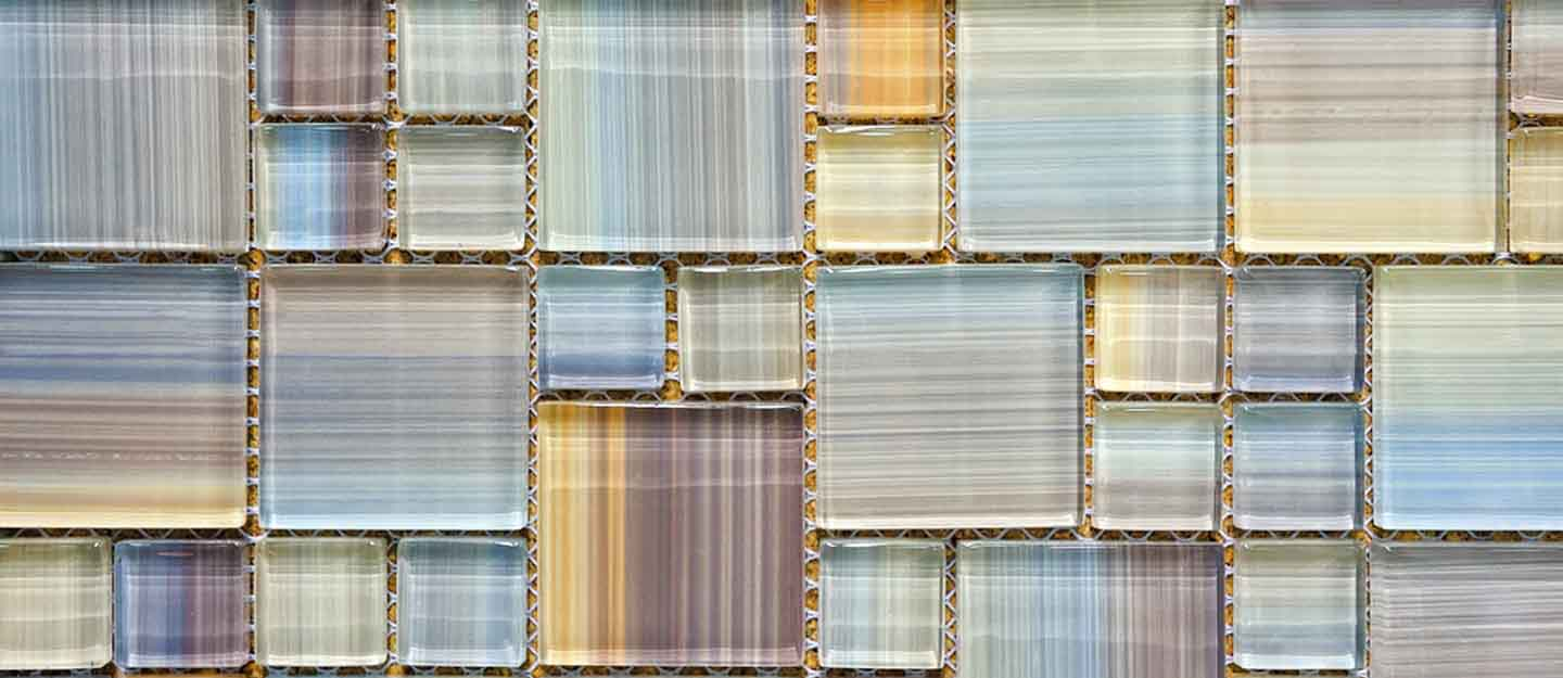 use recycled glass in your interior design