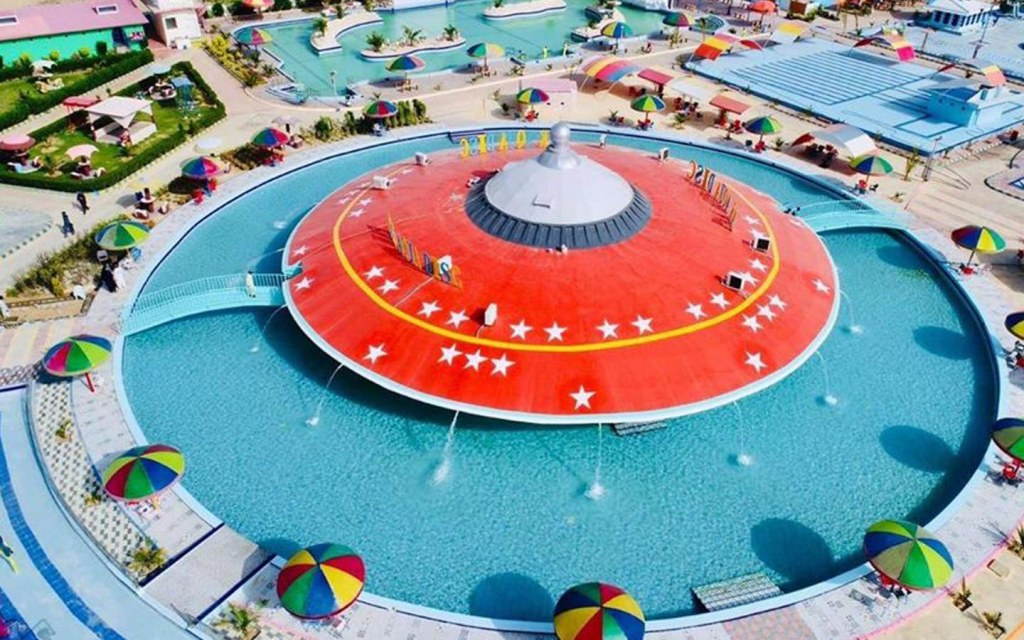 features of paradise island water park