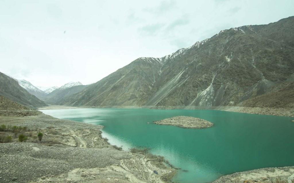 scenic lake in skardu