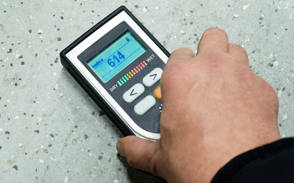 There are different testing methods to check moisture in a concrete floor