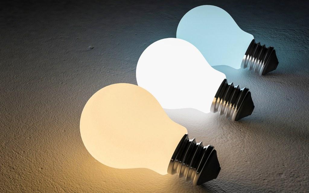colour temperature of light bulbs