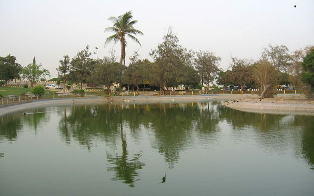 man-made lake at hill park