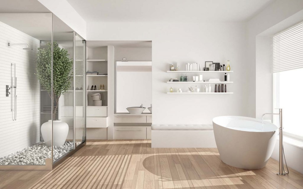 calculate the cost to construct a stylish bathroom