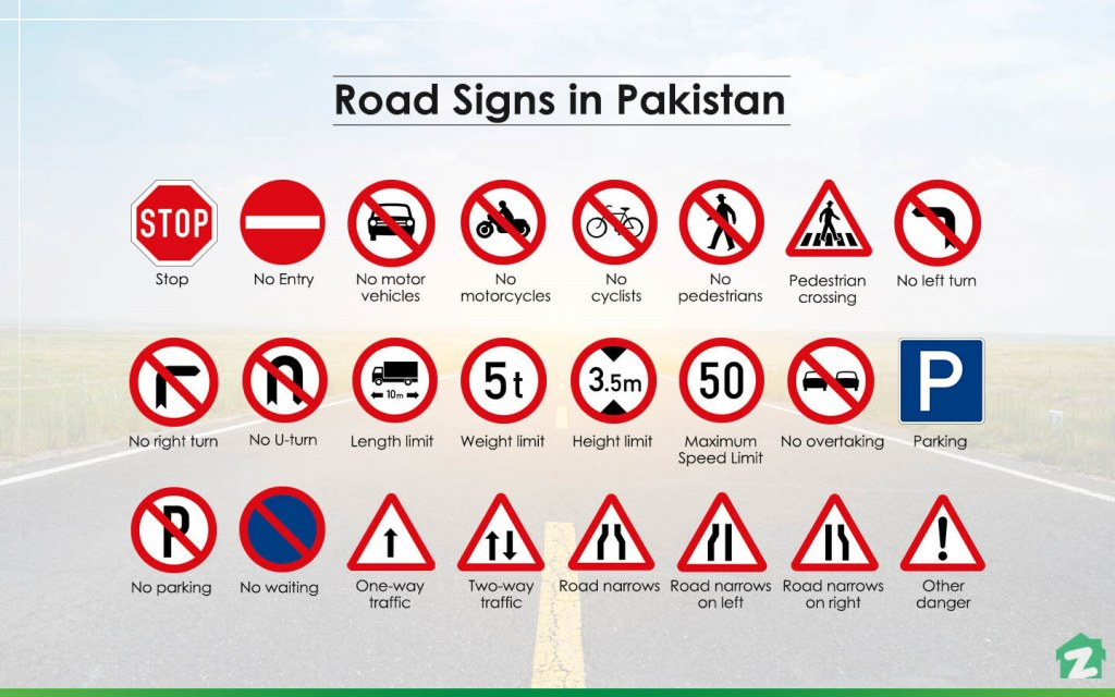 Types of Road Safety Signs in Pakistan