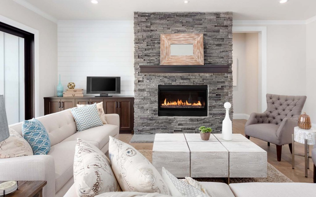 Choose neutral colours to enhance your rustic home decor