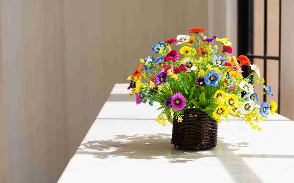 Flowers Bring Colour Indoors