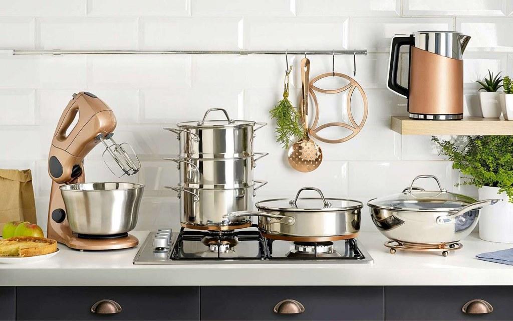 cooking utensils make kitchen look cluttered