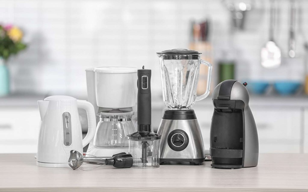 kitchen appliances must not be stored on the countertops