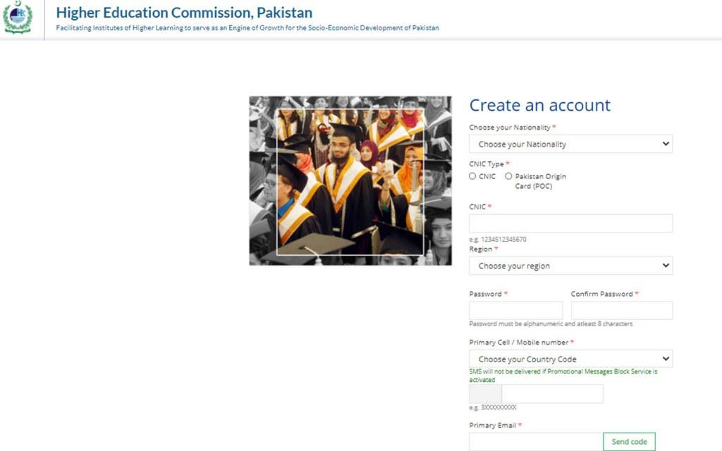HEC account registration