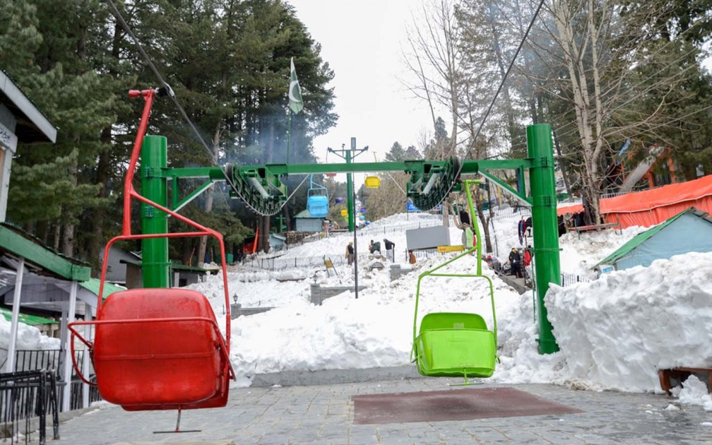 chairlifts at Ayubia National Park