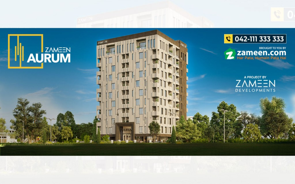 zameen aurum is a high-end apartment project