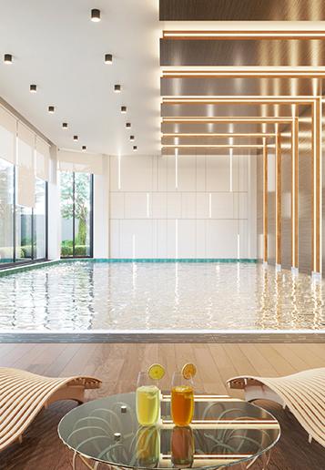 indoor swimming pool at Zameen Aurum