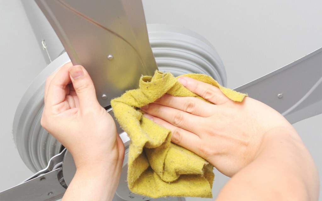 Cleaning Ceiling Fans and Lighting Fixtures