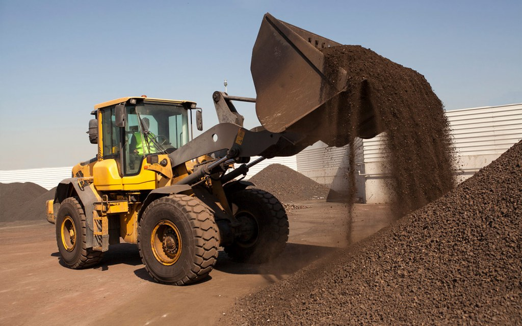 Loaders are large construction machines with tracked and normal wheels